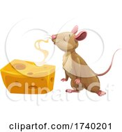 Mouse Or Rat With Cheese
