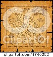 Poster, Art Print Of Treasure Map