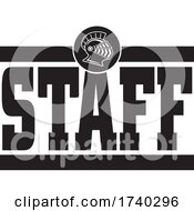 Poster, Art Print Of Black And White Knights Staff Design