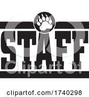 Poster, Art Print Of Black And White Bear Staff Design