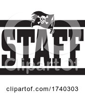 Poster, Art Print Of Black And White Pirates Staff Design