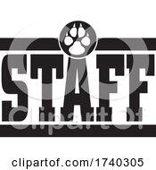 Black And White Canine STAFF Design