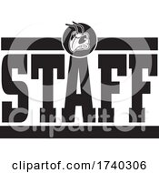 Black And White Yellow Jacket Hornet STAFF Design