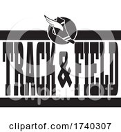 Black And White TRACK And FIELD Sports Design