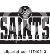 Black And White SAINTS Sports Design