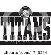 Black And White TITANS Sports Design