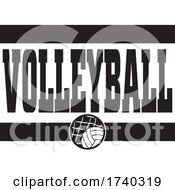 Poster, Art Print Of Black And White Volleyball Sports Design