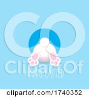 Easter Background With Cute Easter Bunny Design