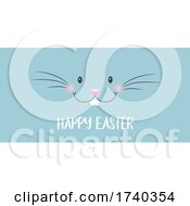 Easter Banner With Bunny Face
