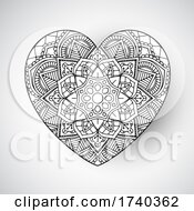 Poster, Art Print Of Mandala Heart Design