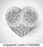 Mandala Heart Design