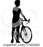 Poster, Art Print Of Bike And Bicyclist Silhouette