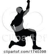 03/25/2021 - Soccer Football Player Silhouette