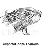 03/25/2021 - Corn Vegetable Vintage Woodcut Illustration