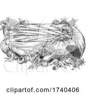 Poster, Art Print Of Cornucopia Garden Vegetables Thanksgiving Sign