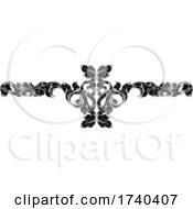 Poster, Art Print Of Filigree Leaf Pattern Floral Scroll Pattern