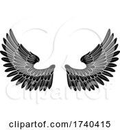 Pair Of Angel Or Eagle Bird Wings