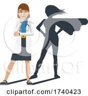 03/25/2021 - Young Medical Doctor Super Hero Cartoon Mascot