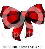 03/25/2021 - Bow Gift Ribbon Vintage Woodcut Engraving Style
