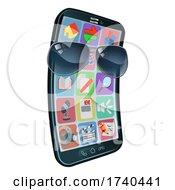 03/25/2021 - Mobile Phone Cool Shades Cartoon Mascot