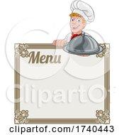 03/25/2021 - Chef Cook Baker Cartoon Man Menu Sign Background