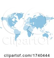Poster, Art Print Of Octagons Flat Map World Background