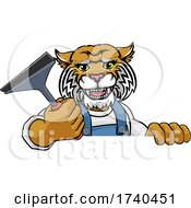 03/25/2021 - Wildcat Car Or Window Cleaner Holding Squeegee