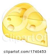 03/25/2021 - Swiss Cheese Cartoon Illustration