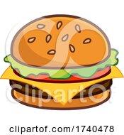 Cartoon Cheese Burger