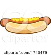 Hot Dog Topped With Mustard