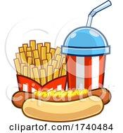Slushy Or Soda With Fries And A Hot Dog