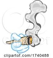 Cartoon Hand Holding A Marijuana Joint