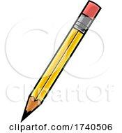 Cartoon Yellow Pencil