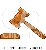 Cartoon Bamging Gavel