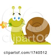 Sweet Snail With A Flower