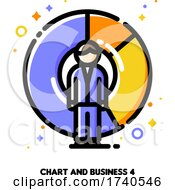 Icon Of Businessman On A Background Of Chart For Return On Investment Finance Graph Concept