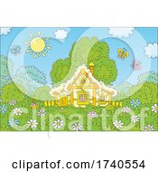 Poster, Art Print Of Cute Cottage On A Sunny Day
