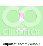 Cute Easter Background With Bunny