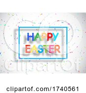 Easter Background With Colourful Confetti