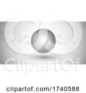 Poster, Art Print Of Abstract Banner With Network Communications Design