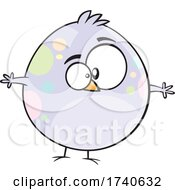 Cartoon Fat Spotted Easter Chick