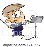 Cartoon Boy Music Conductor