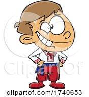 Cartoon Ukraine Boy