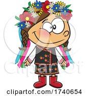 Cartoon Ukraine Girl