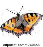 Aglais Urticae Small Tortoiseshell Butterfly