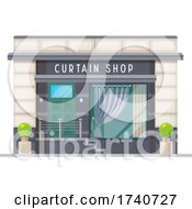 Curtain Shop Building Storefront