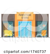Poster, Art Print Of Furniture Store Building Storefront