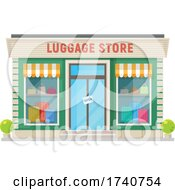 Luggage Store Building Storefront by Vector Tradition SM