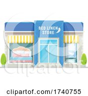 Bed Linen Store Building Storefront by Vector Tradition SM
