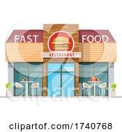 Fast Food Restaurant Building Storefront